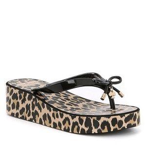 Kate Spade Rhett Leopard Print Flip Flops